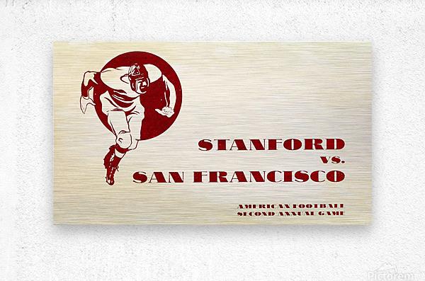 1933 Stanford vs. San Francisco American Football  Metal print