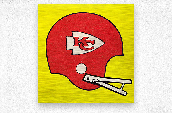 1982 Kansas City Chiefs Helmet Art  Metal print