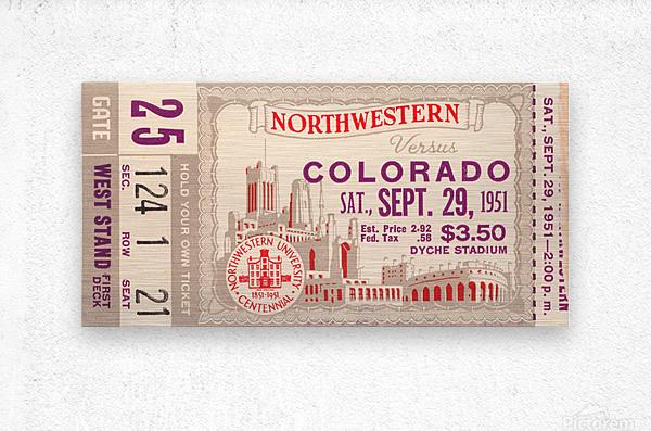 1951 Northwestern vs. Colorado  Metal print
