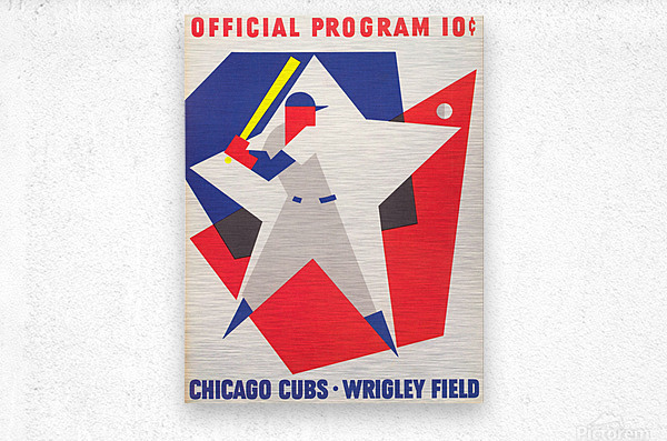 1964 Chicago Cubs Scorecard Wall Art  Metal print