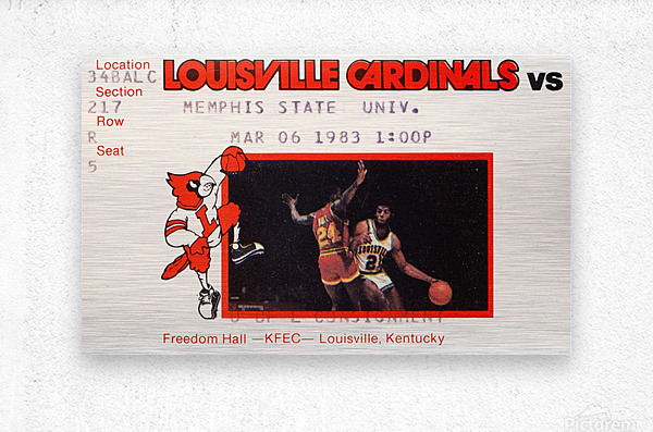 1983 Memphis State vs. Louisville  Metal print