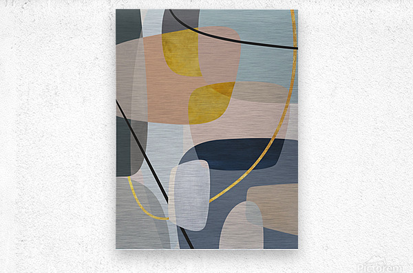 Abstract Composition 1147  Metal print