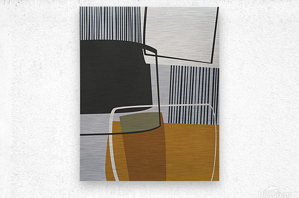 Abstract Composition 1146  Metal print