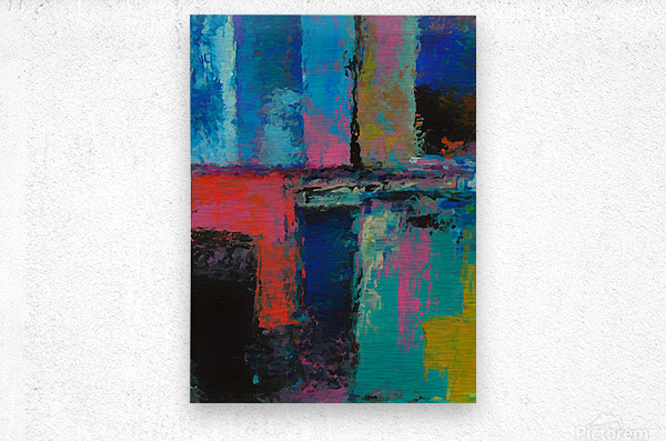 Abstract Composition 1141  Metal print