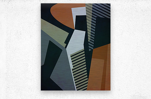 Abstract Composition 1132  Metal print