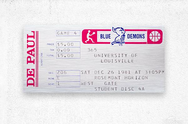 1981 DePaul vs. Louisville  Metal print