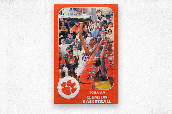 1988 Clemson Tigers Eldon Campbell  Metal print