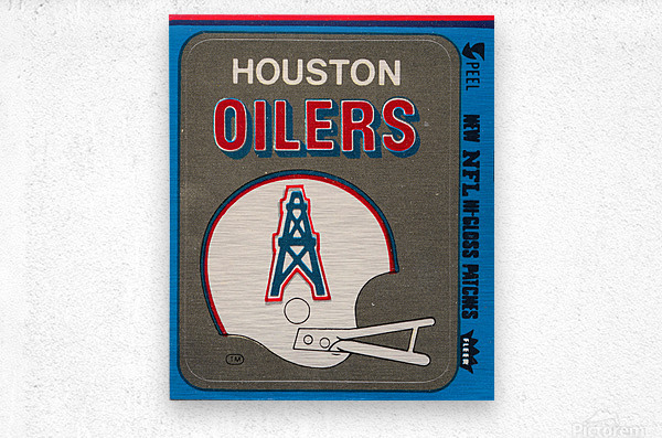 1981 Houston Oilers Helmet  Metal print