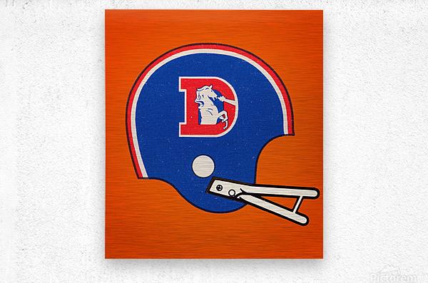 1982 Denver Broncos Football Helmet Art  Metal print