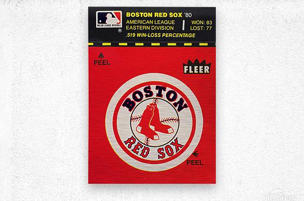 1981 Boston Red Sox Fleer Decal Art  Metal print