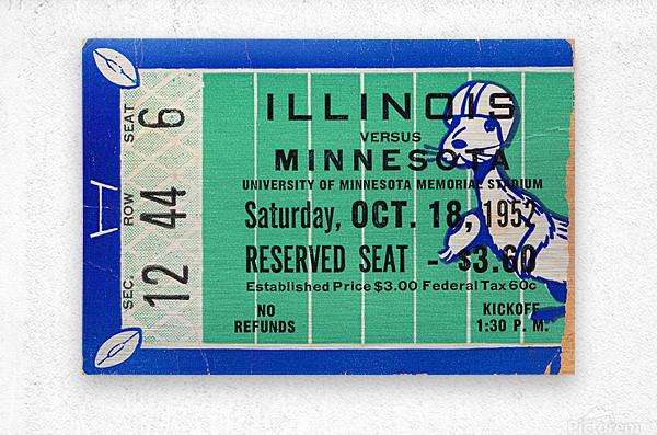 1952 Minnesota vs. Illinois  Metal print