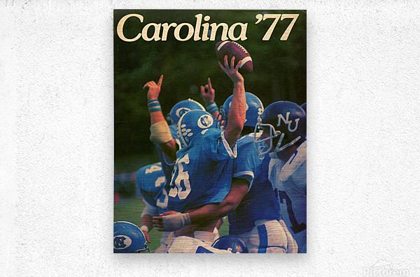 1977 Carolina Football  Metal print