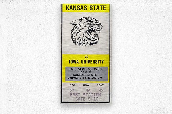 1988 Kansas State vs. Iowa  Metal print