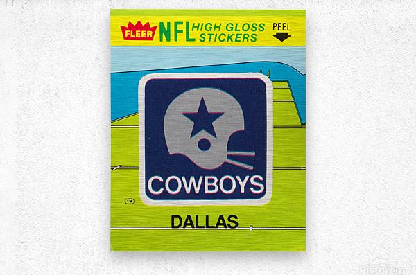 1981 Dallas Cowboys Fleer Decal Art  Metal print