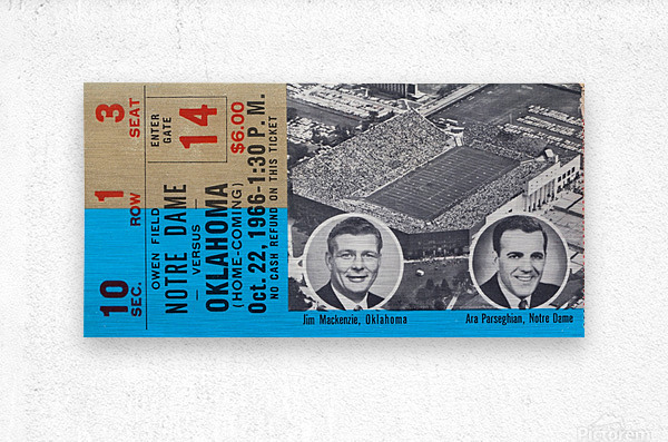 1966 Oklahoma vs. Notre Dame  Metal print