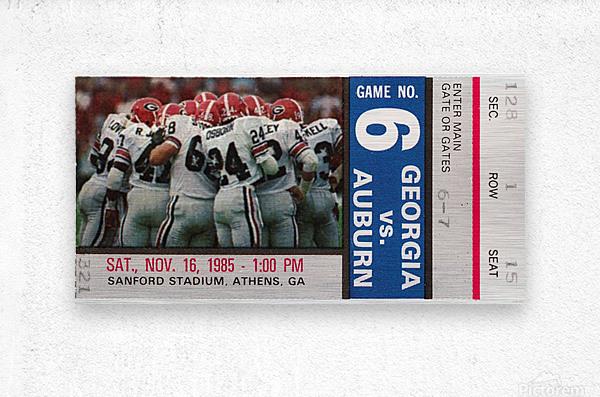 1985 Georgia vs. Auburn  Metal print