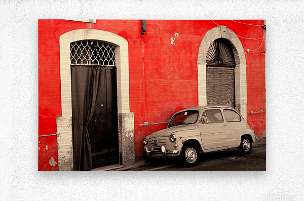 The Old car  Metal print