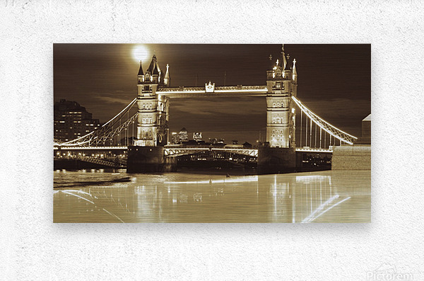 Vintage Tower Bridge - london   Metal print