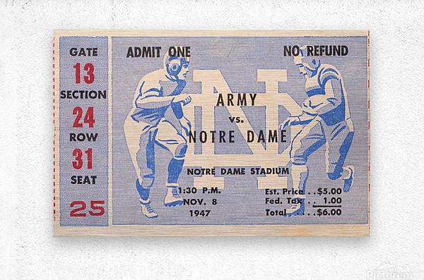 Black Friday Deals 1947 Notre Dame vs. Army  Metal print