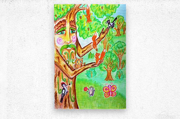 The tree of the prophetic wood and the friends of the wood  Metal print