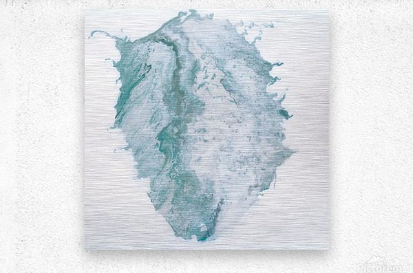 Teal Expressions 03  Metal print