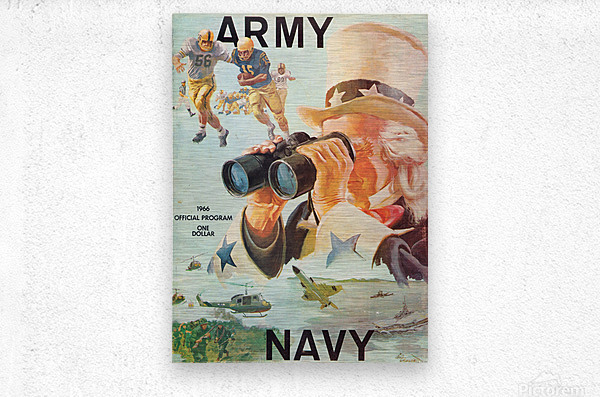1966 Army vs. Navy Football Program  Metal print