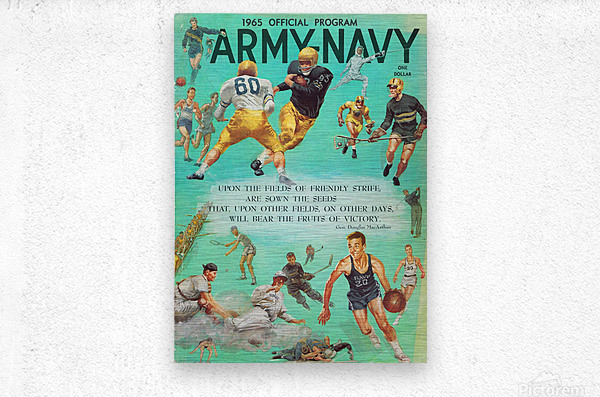 1965 Army vs. Navy Football Program  Metal print