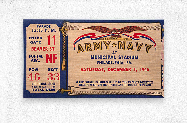 1945 Army Navy Game of the Century  Metal print
