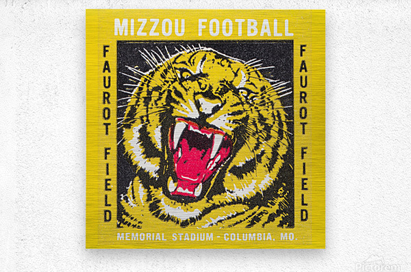 1977 Mizzou Football  Metal print