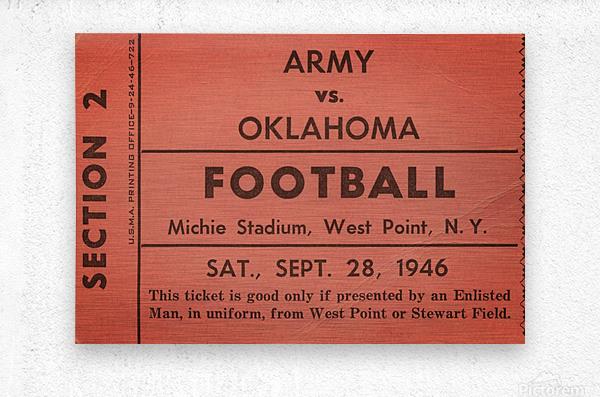 1946 Army vs. Oklahoma  Metal print