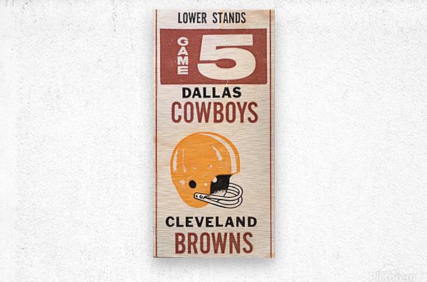 1969 Cleveland Browns vs. Dallas Cowboys  Metal print