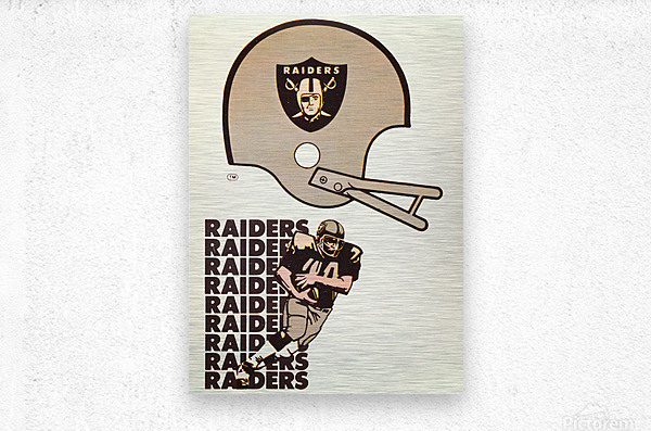1976 Oakland Raiders Art  Metal print