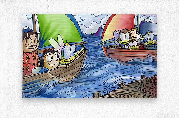 A Dream of Summer - Boats  Metal print