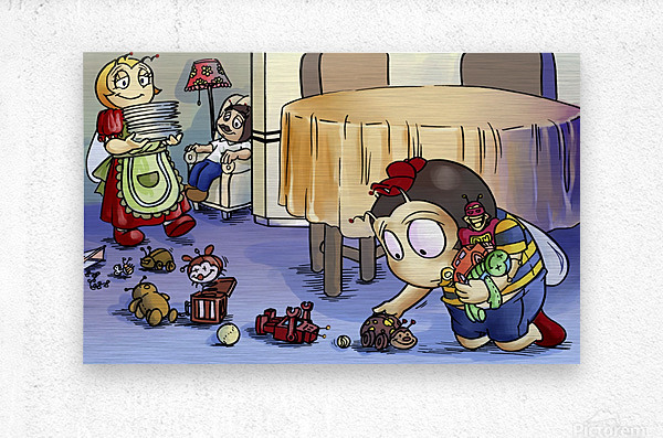 Toy Parade - Bugville Critters  Metal print