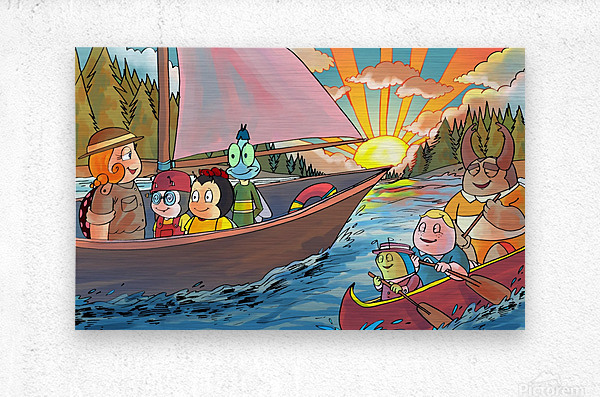 Summer Camp - Sailing  Metal print