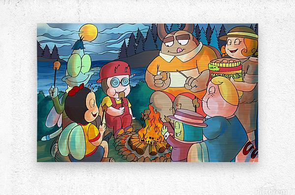 Summer Camp - Bonfire  Metal print