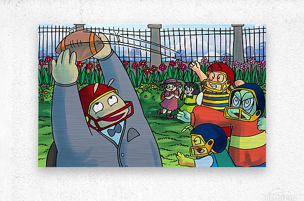 Football With Friends  Metal print
