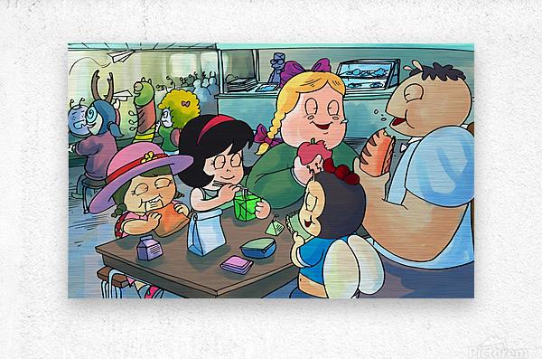 Lunch Break - Bugville Critters  Metal print