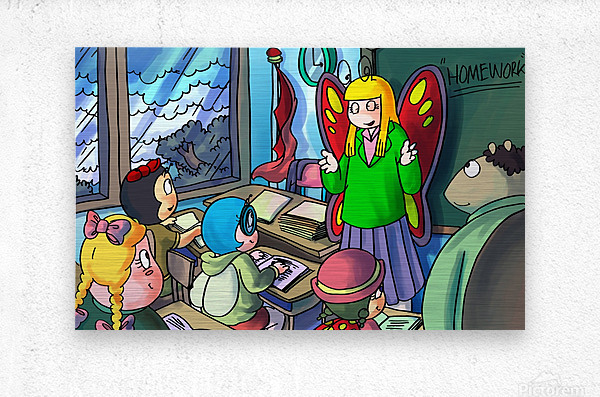 Classroom - Bugville Critters  Metal print