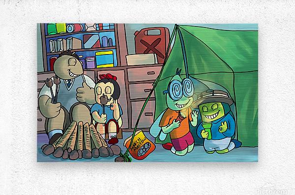 Blanket Fort - Bugville Critters  Metal print