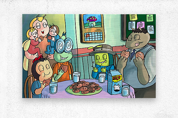 Cookie Break - Bugville Critters  Metal print