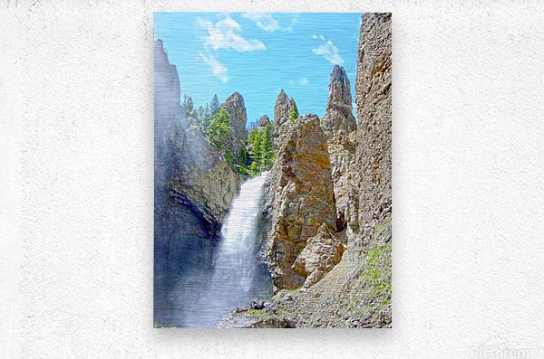 Yellowstone Waterfall - Grand Canyon of the Yellowstone River - Yellowstone National Park  Metal print