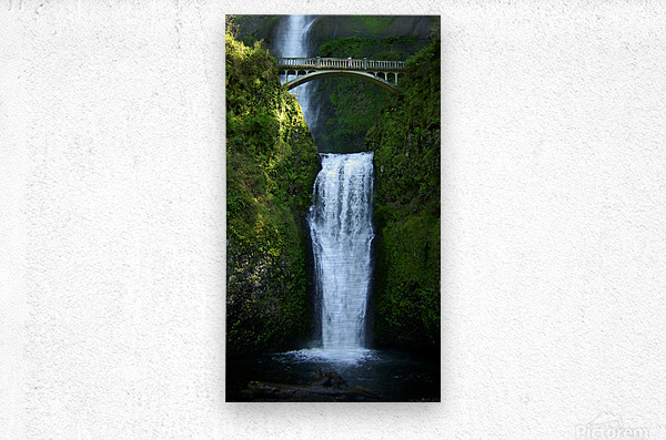 Multnomah Waterfalls Oregon  Metal print
