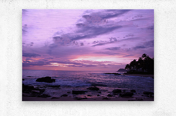 Purple Skies Over Hawaii  Metal print