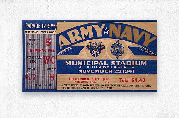 1941 Army Navy Game  Metal print