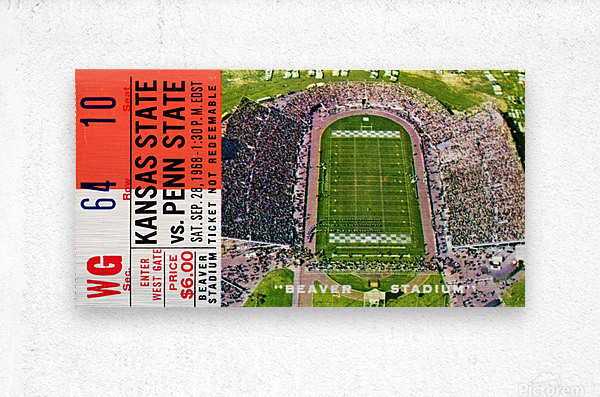 1968 Penn State vs. Kansas State  Metal print