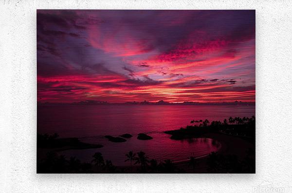 Bliss One - Pink and Purple Kissed Skies Over Hawaii  Metal print