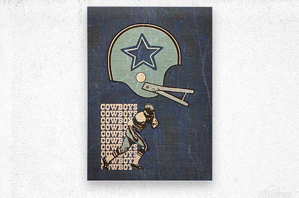 1976 Dallas Cowboys Wall Art  Metal print