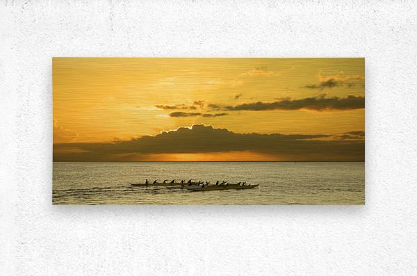 Long Canoes at Sunset  Metal print