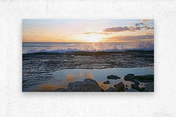 Reflections at the Sea Shore  Metal print